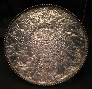 The Mildenhall Great Dish, a silver dish from the Roman Empire (4th-century AD).