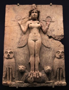 The Queen of the Night, a Mesopotamian goddess; thisplaque was probably made in Babylonia (southern Iraq) between 1792 and 1750 BC, during the reign of King Hammurabi.