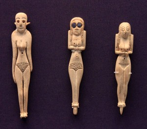 Ivory figurines; Egyptian, Early to Middle Predynastic Period (33rd to 32nd-century BC).