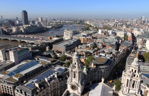 View of London from St. Paul's Cathedral, looking west.