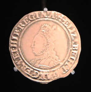 An Elizabeth I shilling from 1560/61 AD.