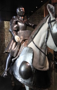 Henry VIII's armor, displayed in the White Tower.