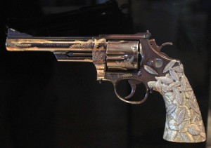 'The Tiffany Revolver', made and donated by Smith & Wesson in 1989 AD.