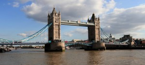 The Tower Bridge, built in 1894 AD.