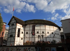 "The Globe Theater (""Shakespeare's Globe""), a modern reconstruction built in 1997 AD that is based on the original 1599/1614 AD theater that stood nearby."