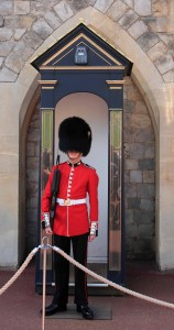 One of the Queen's Guards, at Windsor Castle.
