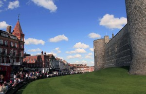 The western wall of Windsor Castle.