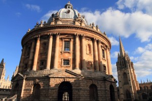The Radcliffe Camera; it was built in 1749 AD to house the Radcliffe Science Library.