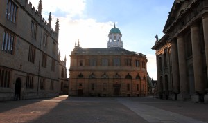 The Sheldonian Theatre, built by Sir Christopher Wren in 1668 AD.