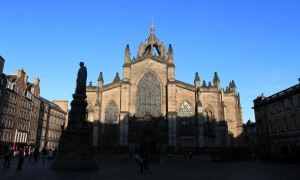 The west façade of St. Giles' Cathedral.