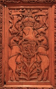A part of the Beaton Panels, an example of late Gothic woodwork (1530s AD).