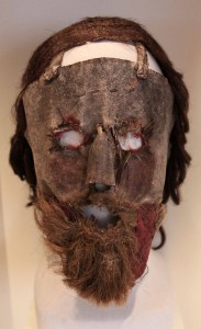 "Mask that was worn as a disguise by a leading Covenanter, Alexander Peden, during the ""killing times,"" when he and other Covenanters lived in fear of arrest and execution (ca. 1670 AD)."