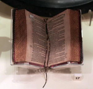 Authorized James VI version of the New Testament and Psalmbook, from the early 17th-century AD.
