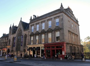 The Elephant House café; this is one of the cafés in Edinburgh in which J. K. Rowling wrote the first Harry Potter novel.