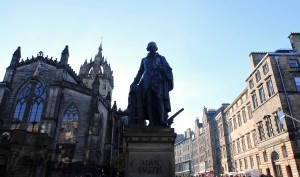 Statue of Adam Smith.