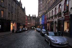 Victoria Street in Edinburgh.