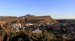 Holyrood Park and Arthur's Seat, seen from Calton Hill.