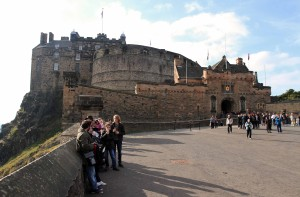 Another view of Edinburgh Castle from the esplanade.