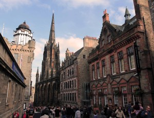 The Royal Mile just outside of the Esplanade.