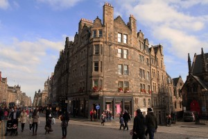 Buildings along the Royal Mile.