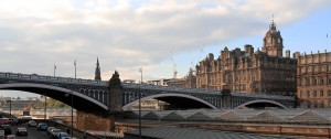 North Bridge, over the railway station in Edinburgh.