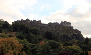 Edinburgh Castle seen from Princes Street.