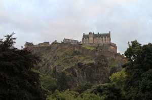 Another view of Edinburgh Castle from Princes Street.
