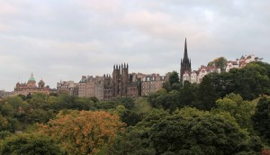Buildings of Edinburgh, past Princes Street Park.