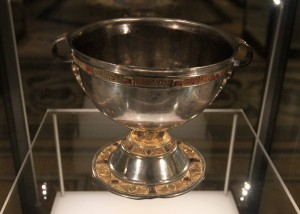 A silver chalice found in Tipperary County (9th-century AD).