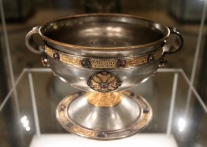 A silver chalice found in Limerick County (8th-century AD).