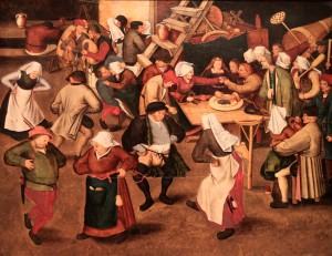'Peasant wedding' by Pieter Brueghel the Younger (1620 AD).