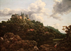 'The Castle of Bentheim' by Jacob van Ruisdael (1653 AD).