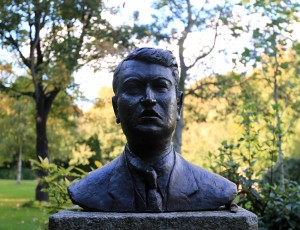 Bust of Michael Collins.