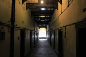 More rows of prison cells inside the gaol.
