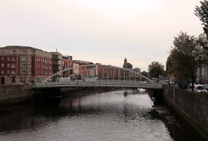 The James Joyce Bridge over the Liffey River.