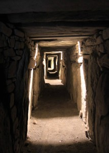 The Eastern Passage inside the large mound at Knowth.