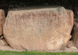 More megalithic art on a stone at Knowth.