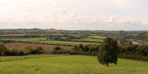Farms of Meath County, seen from the Knowth Neolithic site.