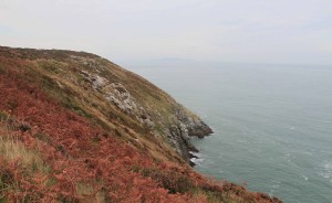 The steep and rocky edge of Howth Head (the peninsula just north of Dublin).