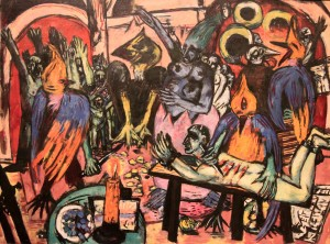 'Bird's Hell' by Max Beckmann (1938 AD).