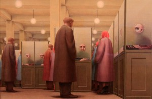 'Government Bureau' by George Tooker (1956 AD).