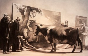 'The Innocent Eye Test' by Mark Tansey (1981 AD).