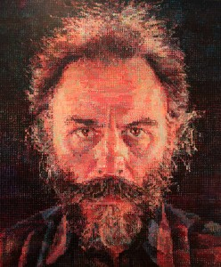 'Lucas I' by Chuck Close (1986/87 AD).