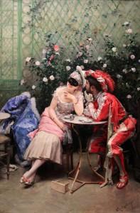 'Masqueraders' by Raimundo de Madrazo y Garreta (1875/78 AD).