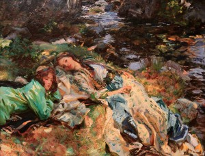 'The Brook' by John Singer Sargent (1907 AD).