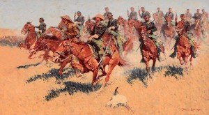 'On the Southern Plains' by Frederic Remington (1907 AD).