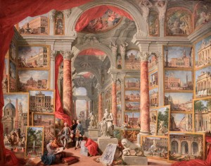 'Modern Rome' by Giovanni Paolo Panini (1757 AD).