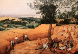 'The Harvesters' by Pieter Bruegel the Elder (1565 AD).