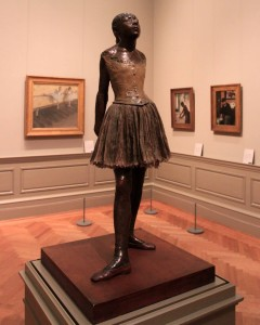 'The Little Fourteen Year-Old Dancer' by Edgar Degas (original: 1880 AD; this cast: 1922 AD).