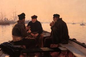 'Boatmen of Barcelona' by Dionisio Baixeras y Verdaguer (1886 AD).